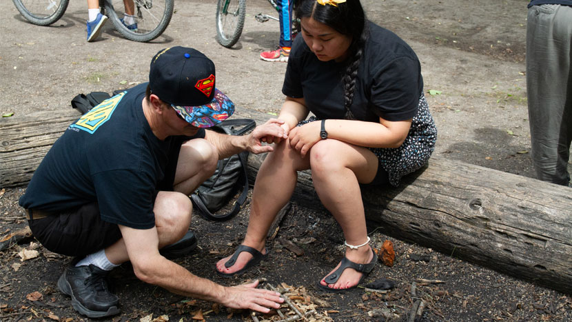 experiencing camp manitou through smell and touch